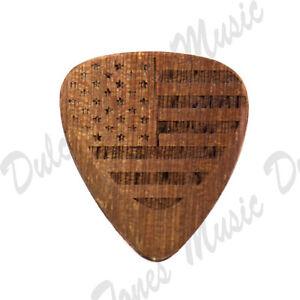 Timber Tones Cobra's Saffron American Flag Guitar Pick Plectrum *FAST DELIVERY*