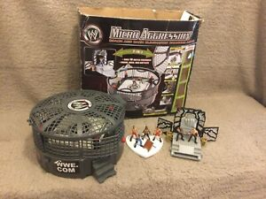 Wwe / Wwe Mega Rare Micro Aggression Elimination Chamber Playset With Figures!