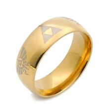 1pcs Moden Design The Legend of Zelda Triangle Sign Ring Titanium Steel Size 7