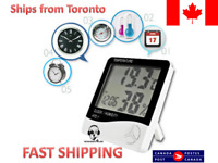 Indoor Outdoor Thermometer Digital LCD C/F Temperature Humidity Alarm Clock