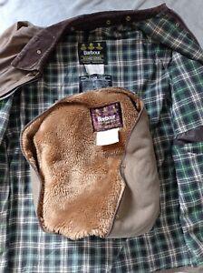 Barbour solway zipper 42 inch wax jacket and liner