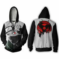 Naruto Shippuden Kakashi Hatake Costume Cosplay Jacket Hoodie Coat Sweatshirt