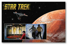 STAR TREK 50TH ANNIV LENTICULAR MOTION Souvenir Sheet UNOPENED CANADA 2016 MINT