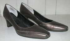 ROS HOMMERSON Women's Pettis Metallic Bronze Leather Pump Shoe Sz 7.5N
