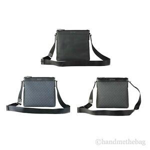 Michael Kors Cooper Men's Large Signature Leather Crossbody Swing Pack Bag
