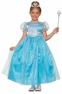 Lady Blue Girls Child Fairytale Princess Fairy Costume Dress