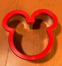 New Disney Parks Mickey Mouse Red Icon Ears Kitchen Sandwich Cookie Cutter