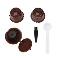 3x Reusable Refillable Coffee Filter Capsule Pod Brush for Nescafe Dolce Gusto