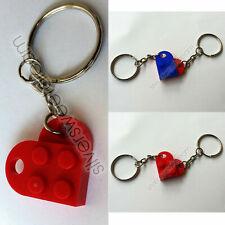 PORTACHIAVI KEYRING CUORE LEGO DIVISO HEART SPLIT AMORE AMICIZIA NERD LOVE GIFT