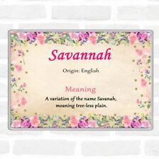 Savannah nom signifiant Jumbo Aimant De Réfrigérateur Motif Floral