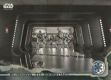 """Star Wars Rogue One Series 1: #48 """"Rushing to Respond"""" Black Parallel Base Card"""