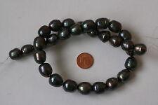 Perlen SWZP(anthrazit, gefärbt 11-14 mm.B) I-0221/I