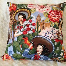 """Cushion Cover 18"""" 46cm Las Senoritas, Mexican Parade 1  Made in Australia"""