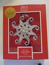 Lenox 2013 Snow Majesty RTL $40 NEW in box 839964 Silverplate