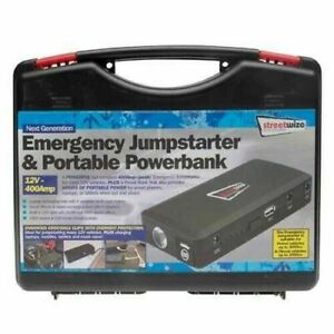 Streetwize SWPB1 Portable Power Bank Jump Starter 12V 14000mAh 400amp Peak