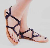 Women's Slingback Sandal Y-strap Thong Flip Flops Style Flats Buckle Gladiator