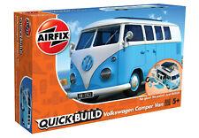 Airfix J6024 VW Kamper Bully, blau Auto Modell Bausatz, Quick Build