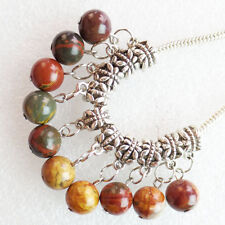 10pcs Picasso Jasper Round Beads Fit European Bracelet Necklace LL1489