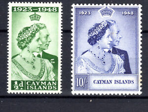 Cayman Is Silver Wedding pair  KGVI MH [G0221]