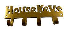 House Key Shape Hook Vintage Antique Style Handmade Brass Wall Hanger Home Decor