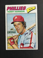 Terry Harmon Phillies signed 1977 Topps Baseball Card #388 Auto Autograph