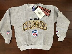 VINTAGE DEADSTOCK SAN DIEGO CHARGERS CHAMPION CREWNECK SWEATSHIRT YOUTH S NFL