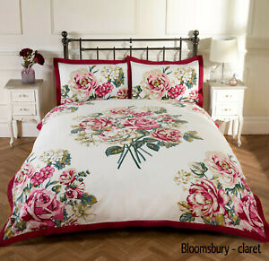 Floral Patchwork Shabby Chic Duvet Quilt Cover Bedding Set in 3 Sizes