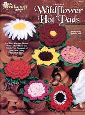 Wildflower Hot Pads ~ Rose Peony Daisy Sunflower & More crochet patterns