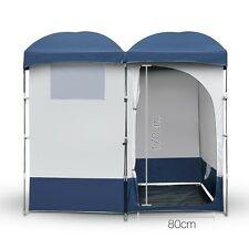 New Double Camping Shower Toilet Tent Outdoor Portable ChangeRoom ShelterEnsuite