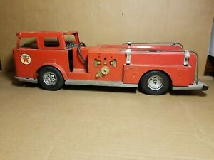 VINTAGE TEXACO Fire Chief BUDDY L Fire Truck Engine FOR PARTS OR RESTORE #2