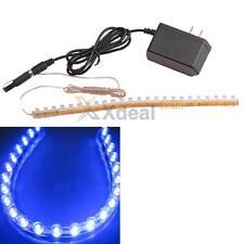 Aquarium Fish Tank Moon Light 24 LED Blue Strip Flexible Bar Strip Lamp W/ Power