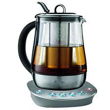 Mr. Coffee 1.2 Liter Easy 3 Step Custom Gourmet Hot Tea Maker and Kettle, Steel