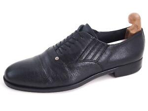 Cesare Paciotti Oxfords Black Leather Mens Shoe Size US 11 EU 44
