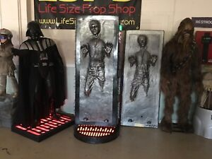 Life Size Star Wars Sideshow Han Solo In Carbonite 1:1 Full Size Prop Statue
