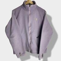 The North Face - Vintage Ladies LilacPurple Zip Up Fleece Jacket - Size Medium