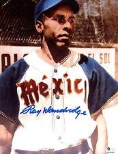 "Ray Dandridge Signed ""Azules De Veracruz Mexico"" 8x10 Baseball Photo ""GAI Auth""."