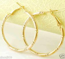 HOT New 9k Gold Filled Fashion Stylish Lady Ear Stud Hoop Earring 475