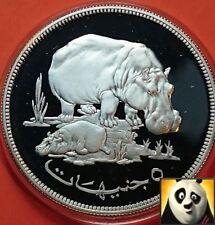 1976 £ 5 Cinque sterline IPPOPOTAMO vitello conservazione WWF argento Proof Coin