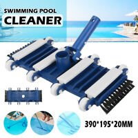 390x190mm Vacuum Head Flexible Swimming Pool Spa Bath Vac Cleaner Wheels Frame