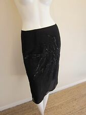 Black Dries Von Noten Sheer Crepe Chiffon and Sequin Evening Skirt  W Side Snaps