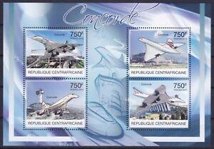 Zentralafrika  3807 - 3810 KB **, Überschallflugzeug Concorde (14 ME)