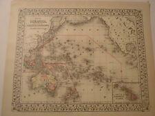 Map of Oceanica, Australia, Hawaii, New Zealand, Malaysia,1884, Mitchell