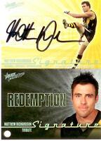 2010 Select AFL Prestige Signature Redemption S2 Matthew Richardson (Richmond)