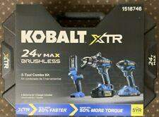 KOBALT 3-TOOL 24V MAX POWER TOOL COMBO TOOL KIT 1518746 xtr