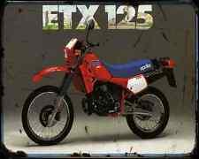 Aprilia Etx125 84 A4 Metal Sign Motorbike Vintage Aged