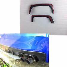 Carbon Fiber + RED For 15-17 Subaru WRX STI Rear Exhaust Pipe Cover Heat Shield