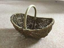 Small Vintage Rustic Wicker Garden Trug / Flower Basket - brand New