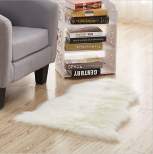 Luxury Faux Sheepskin Fur Rug Soft Cozy Throw Bedroom Lounge Fluffy Hairy Mat
