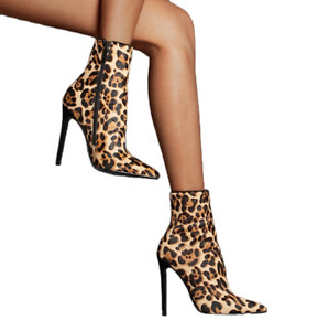 Sexy Women's Pointed Toe Side Zip Stiletto High Heel Ankle Boots Party Shoes
