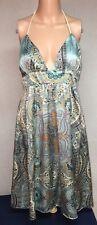 Alice & Trixie 100% Silk Dress Sz M Halter